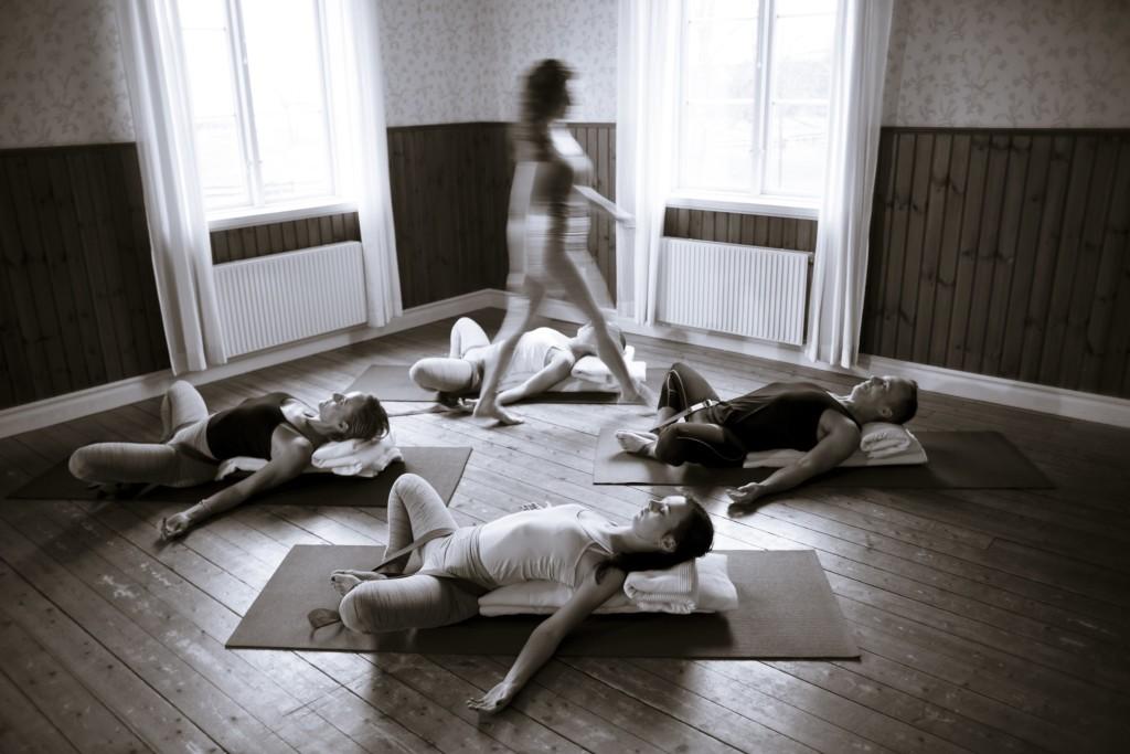 Yoga, Anna Lygner. Foto: Anders Deros
